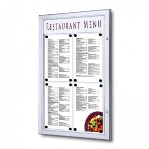 Exteriérová menu vitrína 4xA4